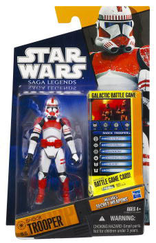 Clone Wars 2010 Black Orange Packaging - Saga Legends - Shock Trooper
