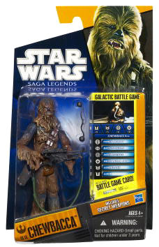 Clone Wars 2010 Black Orange Packaging - Saga Legends - Chewbacca