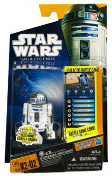 Clone Wars 2010 Black Orange Packaging - Saga Legends - R2-D2