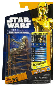 Clone Wars 2010 Black Orange Packaging - Saga Legends - C-3PO