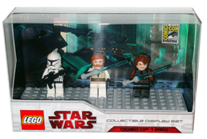 LEGO Star Wars - SDCC 2009 - Mini-Fig Limited Edition [GENERAL KENOBI, ANAKIN SKYWALKER, AND CLONE TROOPER]