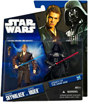 Legacy Of the Darkside Exclusive 2-Pack: Anakin Skywalker to Darth Vader