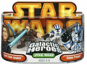 Galactic Heroes: Dark Side Anakin and Blue Clone Trooper GOLD