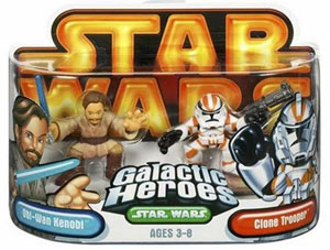Galactic Heroes: Obi-Wan Kenobi and Clone Trooper Gold