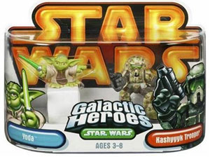 Galactic Heroes: Yoda and Kashyyyk Trooper GOLD