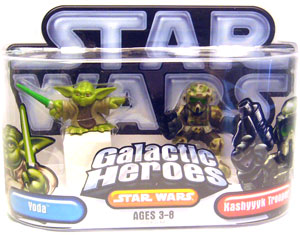 Galactic Heroes: Yoda and Kashyyyk Trooper Silver