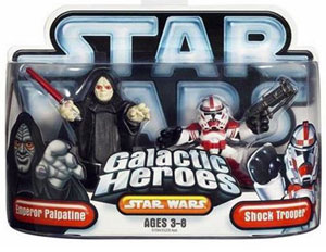Galactic Heroes: Emperor Palpatine and Shock Trooper SILVER