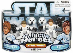 Galactic Heroes: Luke Skywalker and Han Solo as Stormtrooper