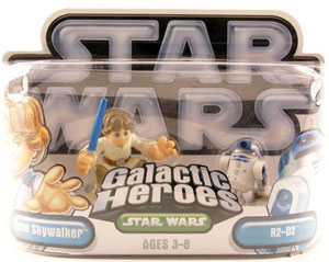 Galactic Heroes - Luke Skywalker and R2-D2 SILVER