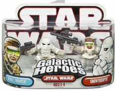 Galactic Heroes: Snowtrooper and Rebel Trooper Red