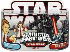 Galactic Heroes: Leia and Darth Vader Red