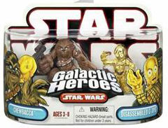 Galactic Heroes: Chewbacca and C-3PO Red