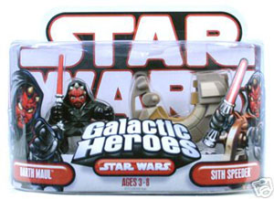 Galactic Heroes Darth Maul and Sith Speeder