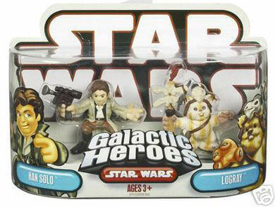 Galactic Heroes Han Solo and Logray RED BACK