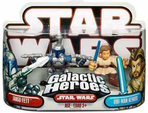 Galactic Heroes - Jango Fett and Obi-Wan Kenobi RED BACK