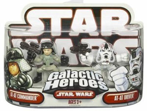 Galactic Heroes - AT-AT Commander and AT-AT Driver RED BACK