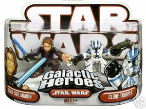Galactic Heroes - Dark Side Anakin and Blue Clone Trooper RED BACK