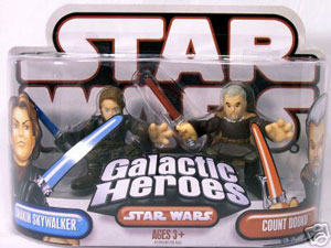 Galactic Heroes - Anakin Skywalker and Count Dooku RED BACK
