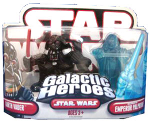 Galactic Heroes - Darth Vader and Emperor Palpatine RED BACK