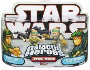 Galactic Heroes - Princess Leia and Rebel Commando RED BACK