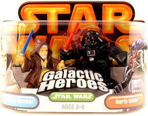 Galactic Heroes - Darth Vader and Obi-Wan Kenobi GOLD