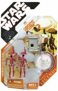30th Anniversary Saga Legends - Pit Droids Maroon Variant