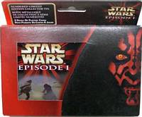 Star Wars Episode 1 Metallic Tin, 2 Poker Decks of Playing Car