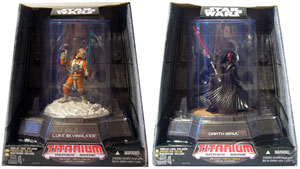 Titanium Figures: Darth Maul & Luke Skywalker