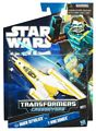 SW Transformers Crossovers Black and Blue - Anakin Skywalker to Y-Wing Starfighter