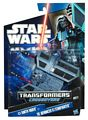 SW Transformers Crossovers Black and Blue - Darth Vader to Advanced TIE Fighter