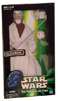 12-Inch POTF Obi-Wan Kenobi with Glow-In-The-Dark Lightsaber