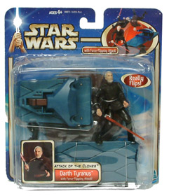 Darth Tyranus with Force Flipping Attack
