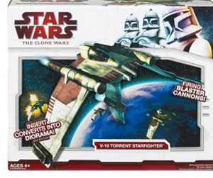 Clone Wars 2009 Red Box - V-19 Torrent Starfighter