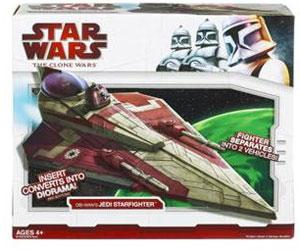 Clone Wars 2009 Red Box - Obi-Wan Delta 2 Jedi Starfighter