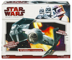 Clone Wars 2009 Red Box - Darth Vader Tie Advanced Starfighter