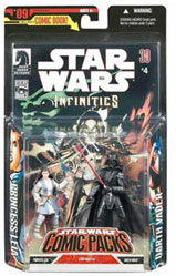 Star Wars Comic Pack - Leia Jedi and Darth Vader