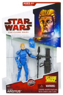Clone Wars 2009 - Red Back Captain Argyus - Blue Royal Guard