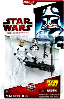 Clone Wars 2009 - Red Back Matchstick Y-Wing Pilot