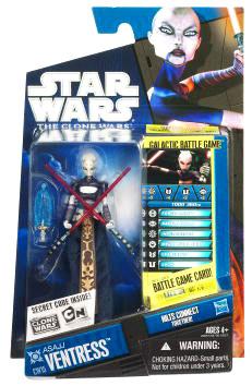 Star Wars Clone Wars 2010 - Black and Blue - Asajj Ventress