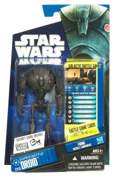 Star Wars Clone Wars 2010 - Black and Blue - Super Battle Droid CW16