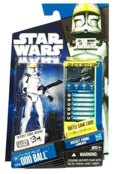 Star Wars Clone Wars 2010 - Black and Blue - Clone Pilot Odd Ball