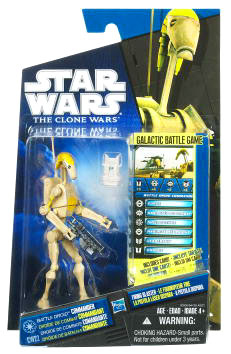 Star Wars Clone Wars 2010 - Black and Blue - Battle Droid Commander CW22