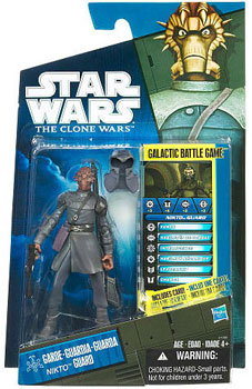 Star Wars Clone Wars 2010 - Black and Blue - Exclusive Nikto Guard