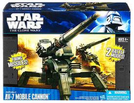 Clone Wars 2011 Black and Blue Box - Republic AV-7 Mobile Cannon