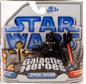 Clone Wars Galactic Heroes - Princess Leia and Bespin Darth Vader BLUE
