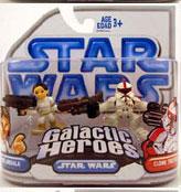 Clone Wars Galactic Heroes - Padme and Red Clone Trooper