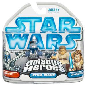 Clone Wars Galactic Heroes - Obi-Wan Kenobi and Jango Fett