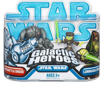 Galactic Heroes - Super Battle Droid AND Luminara Unduli BLUE