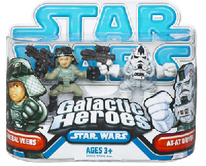 Galactic Heroes - General Veers and AT-AT Driver BLUE