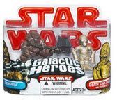 Galactic Heroes - Death Star Droid, Mouse Droid and Chewbacca RED